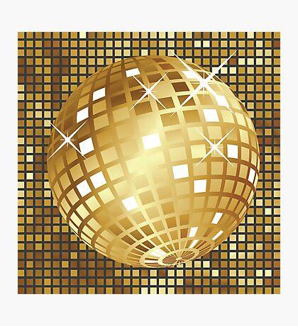 Goldene Discokugel Fotodruck