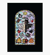 The Binding of Isaac, cathedral glass Photographic Print