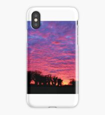 sunset england countryside winter iPhone Case/Skin