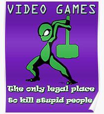 Video Games Legendary Gamer Funny Cool Geek Dork artbyjfg Poster
