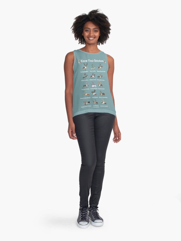 Alternate view of Know Your Reindeer Sleeveless Top