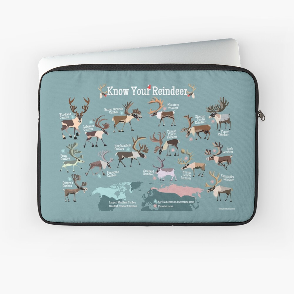 Know Your Reindeer Laptop Sleeve