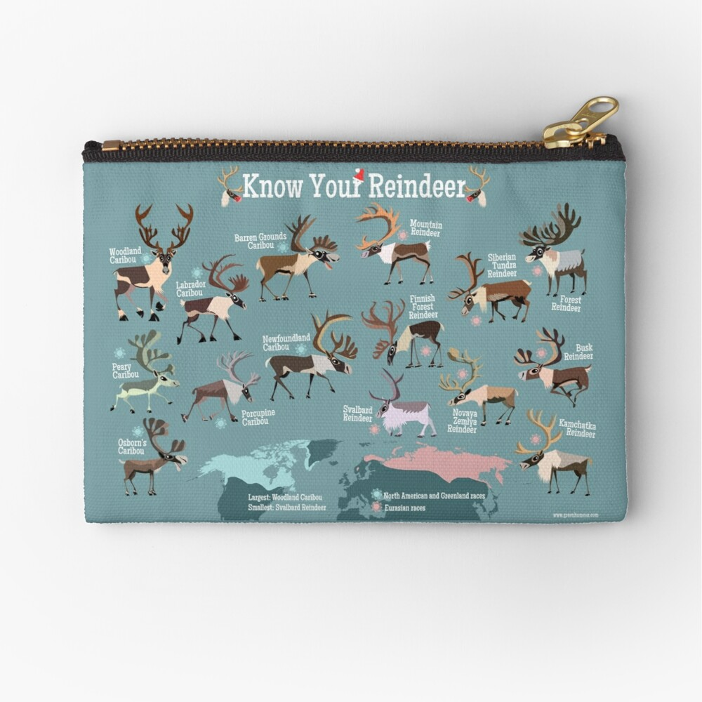 Know Your Reindeer Zipper Pouch