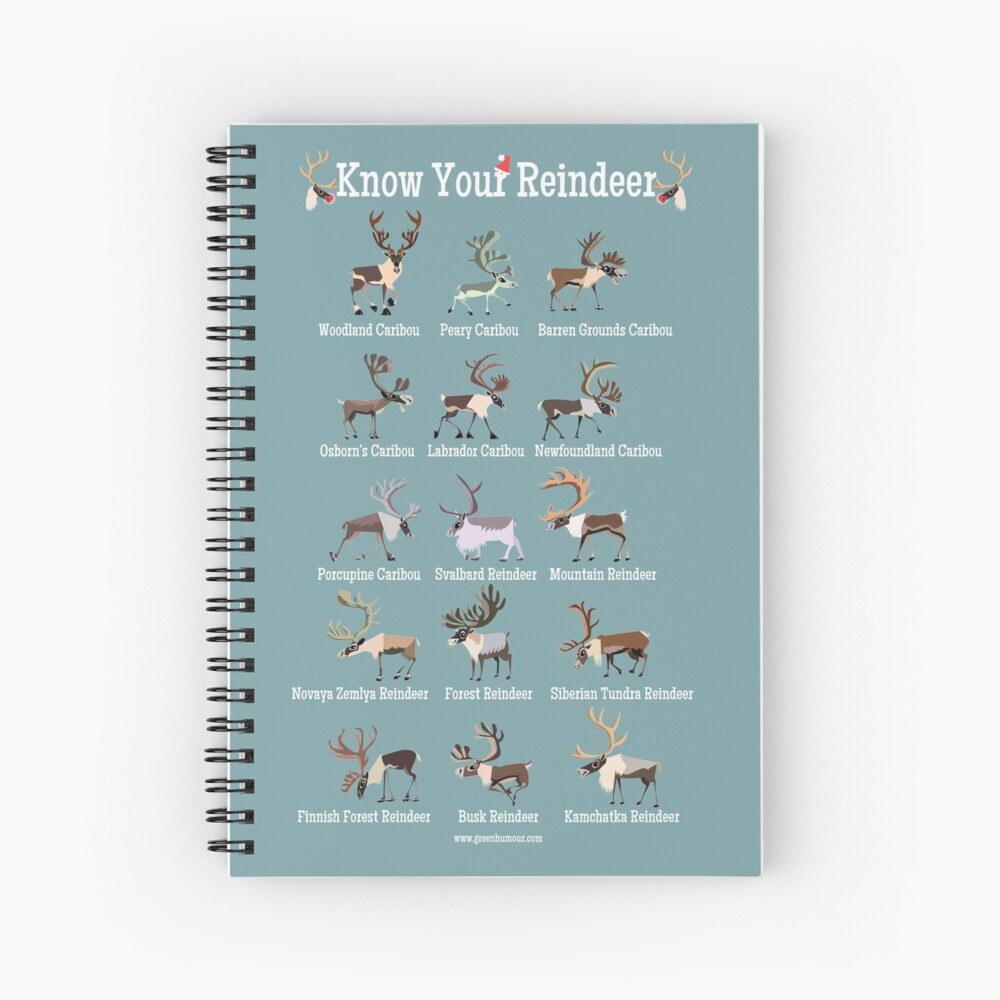 Know Your Reindeer Spiral Notebook