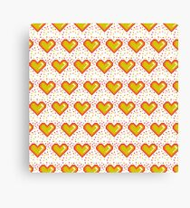 Pixel Heart Pattern  #redbubble #decor #buyart #artprint Canvas Print