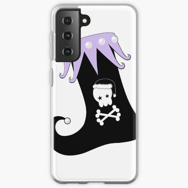 Pastel Goth Christmas   Creepy Stocking   Santa Skull & Cross Bones Samsung Galaxy Soft Case