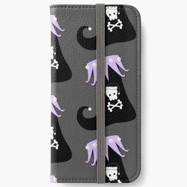 Pastel Goth Christmas | Creepy Stocking | Santa Skull & Cross Bones iPhone Wallet