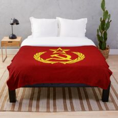Communist Flag Textured Throw Blanket