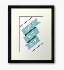 Happy new year banner Framed Print