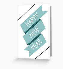 Happy new year banner Greeting Card