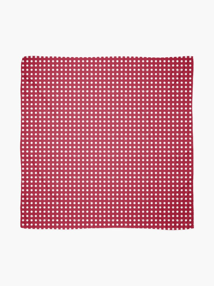 Alternate view of Polka dots! - RED Scarf