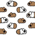 Many Little Cartoon Guinea Pig Pets by Shelly Still