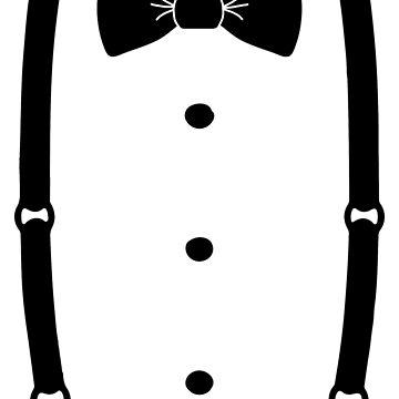 Bow Tie & Slacks (Black tie) by Abili-Tees