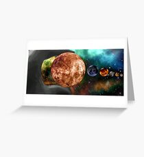 God and the Cosmos Greeting Card