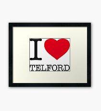I ♥ TELFORD Framed Print