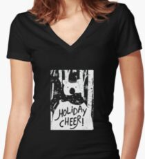Holiday Design - Winter: Holiday Cheer Women's Fitted V-Neck T-Shirt