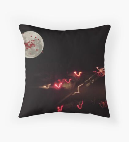 The Madness of the Late-Night Driver Throw Pillow
