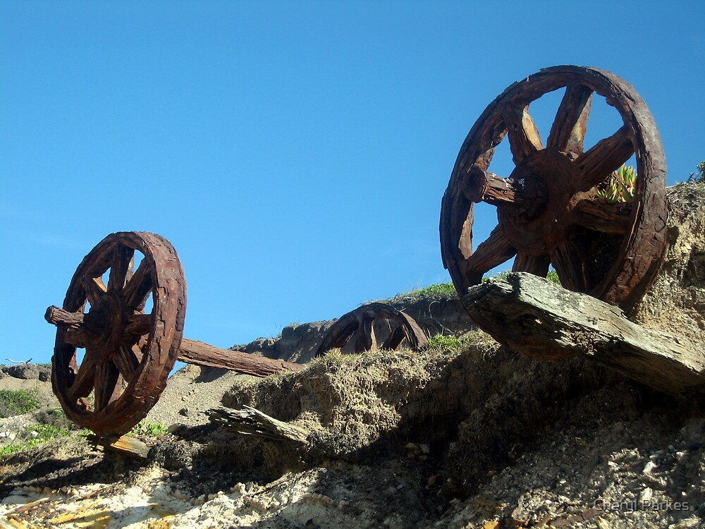Old Coal Mining Cart by Cheryl Parkes
