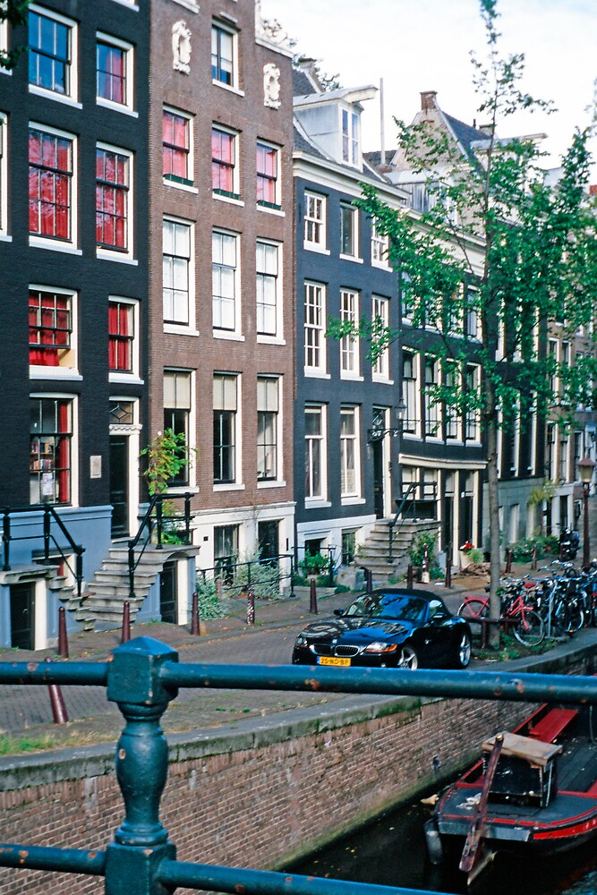 Canalhouses, Amsterdam, The Netherlands by Priscilla Turner