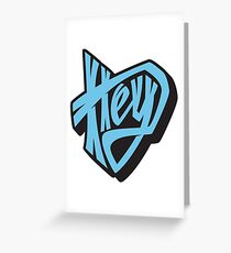 Hey lettering Greeting Card