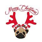 Weihnachts Mops (englisch) von Lana Petersen