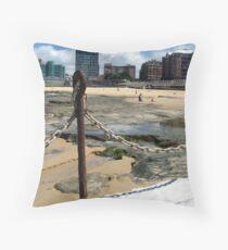 Newcastle Baths and Beach Throw Pillow