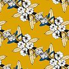 « Gold seventies flowers  » par sarah buscail