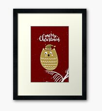 Holiday Design - Merry Christmas Framed Print