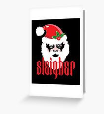 Sleigher Santa Claus Xmas Christmas Trash Metal Greeting Card