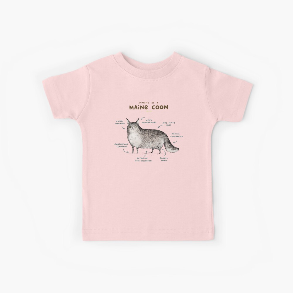 Anatomie einer Maine Coon Kinder T-Shirt