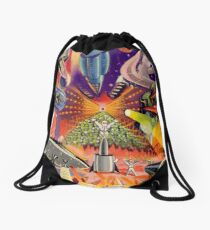 Retro Future Past - French Style - Collage Drawstring Bag