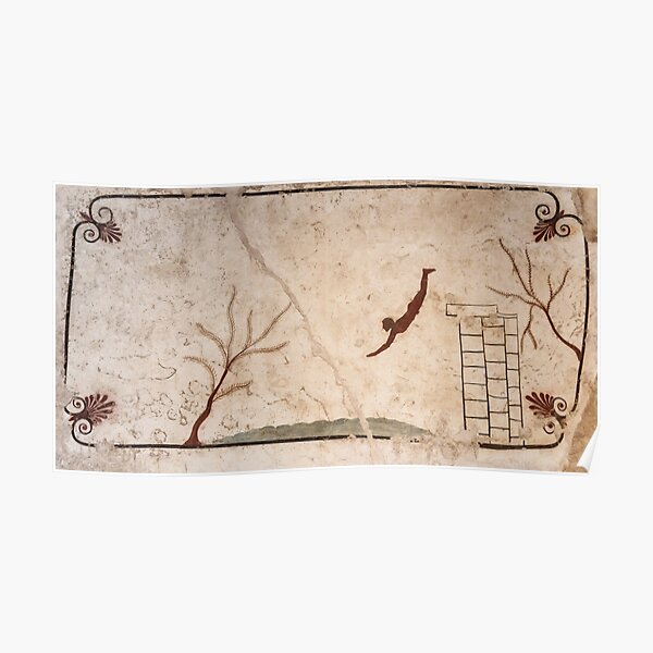 The Diver - Ancient Greek Wall Painting from Paestum, Italy Poster