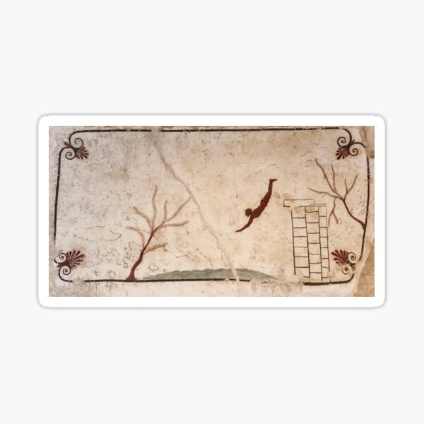The Diver - Ancient Greek Wall Painting from Paestum, Italy Sticker