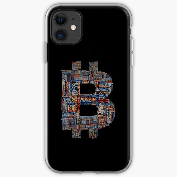 Bitcoin (BTC) Word Cloud Typography iPhone Soft Case