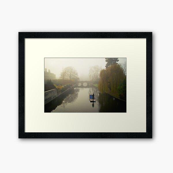 Foggy Morning In Cambridge VII Framed Art Print