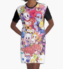Undertale Heart Graphic T-Shirt Dress