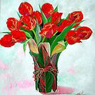 Red tulip by liboart