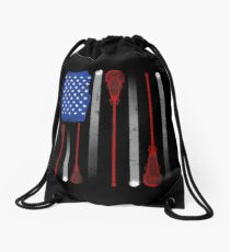 Mochila saco Lacrosse American Flag Lax Stick Ball Star Team