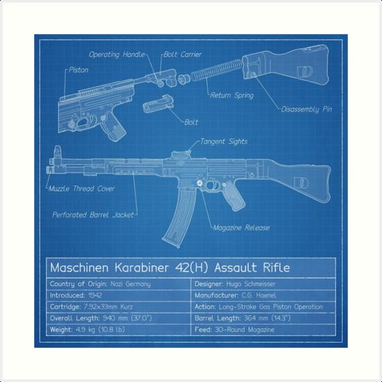 Mkb42h prototype blueprint art prints by nothinguntried redbubble mkb42h prototype blueprint by nothinguntried malvernweather Choice Image
