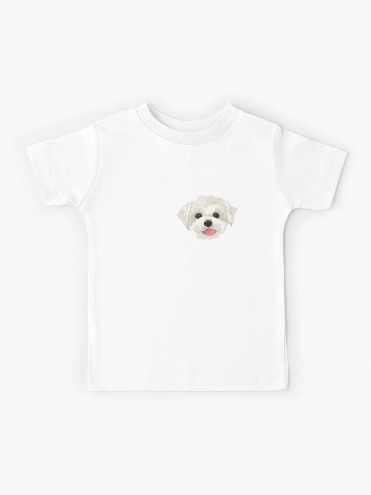 Cute Maltese Puppy Dog Sweatershirt for Toddler Long Sleeve Pullover Crewneck Cotton Sweatshirt for Children