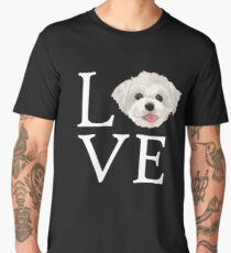 I Love Maltese Dog Lover Cute Doggie Face Men's Premium T-Shirt