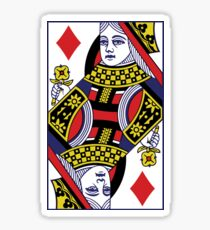 Queen Of Diamonds Playing Cards Poker  Sticker