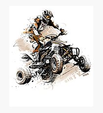 ATV T-Shirt Four Wheeler Quad Bike Brap T-Shirt Photographic Print
