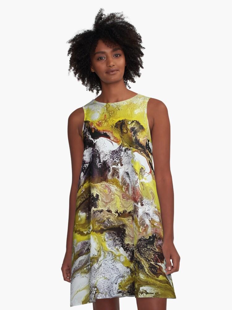 Unicorns, acrylic on canvas A-Line Dress Front