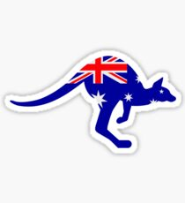 Australia flag kangaroo Sticker