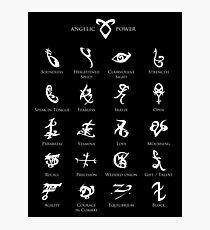 Runes map Photographic Print