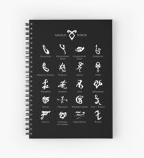 Runes map Spiral Notebook