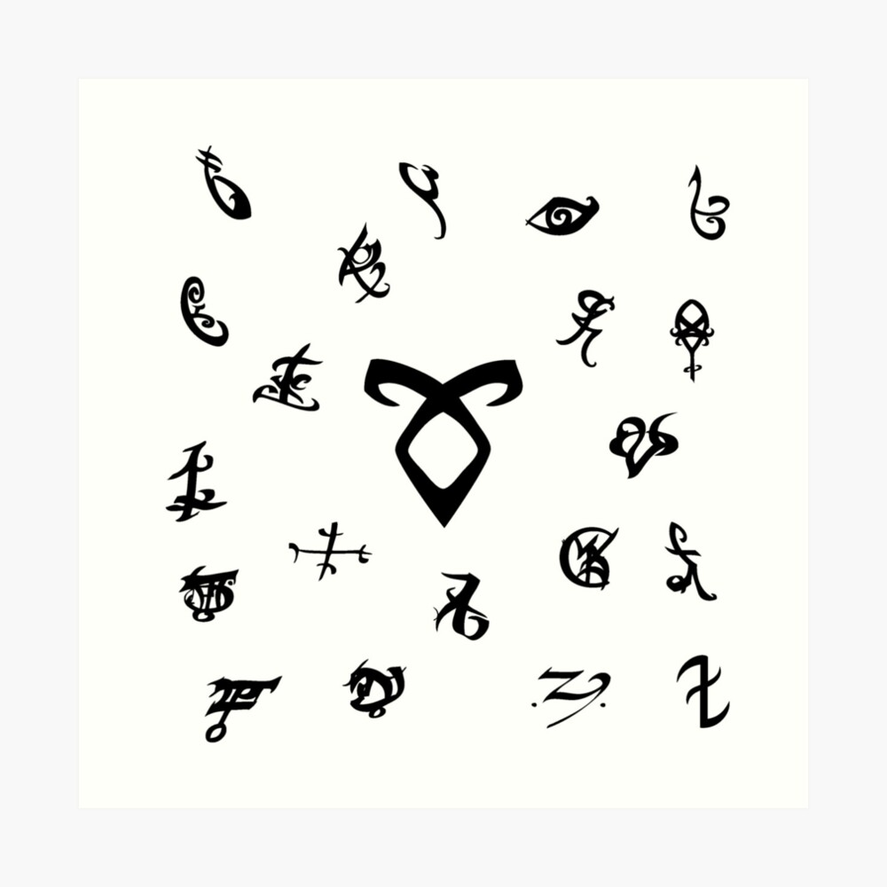 Runen Kunstdruck