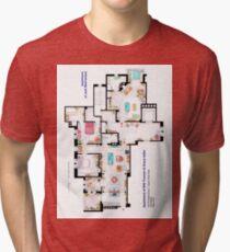 Apartments of Will Truman, Grace Adler and Jack MacFarland Tri-blend T-Shirt