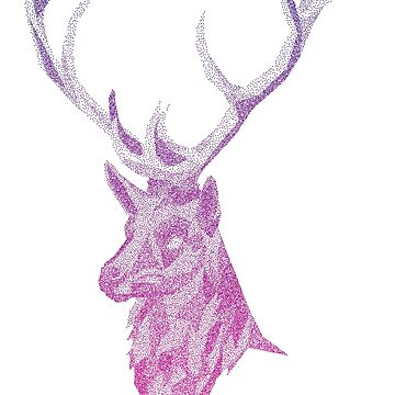 Stippled Polygon Stag by JustSandN